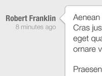 iPad App Chat View