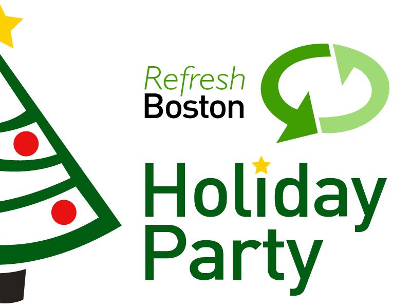 Refresh boston holiday party signage