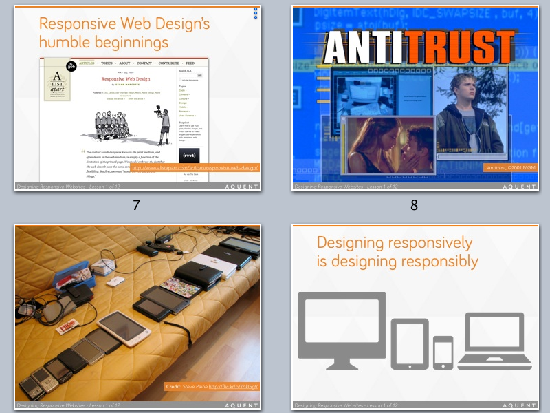 Responsive Deck keynote slides responsive web design slide deck