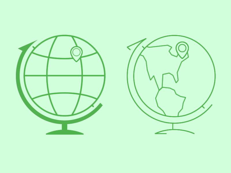 Globes globe map