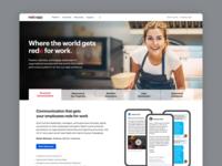 Redeapp Homepage website design design webdesign website