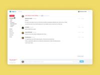 Message Thread app design web design web app design webapp ux uiux ui design uidesign ui design app