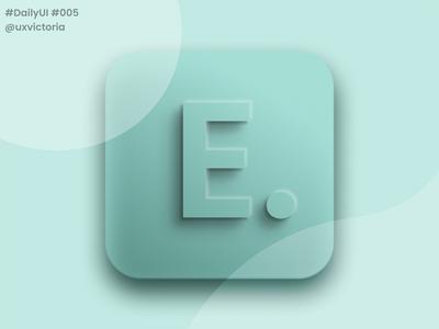 Daily UI :: 005 - App Icon design dailychallange 005 ux ui web design web dailyui004 dailyui branding app figma