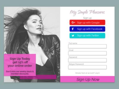 Daily UI Challenge - Sign Up Form ui design dailyui