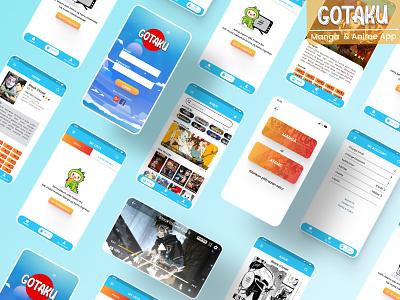 Gotaku App uidesign uxdesign uiux ui mobile ui anime lovers animeart wibu mangaart mobile app otaku anime app manga app