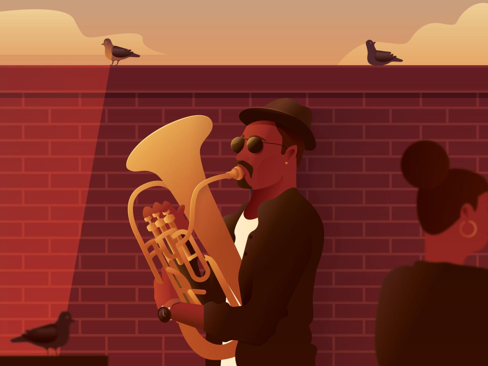 Обои saxophone, музыка, street. Музыка foto 2