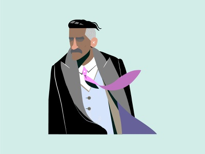 Arthur Shalby flat fanart art design illustration illustrator graphic design vector minimal