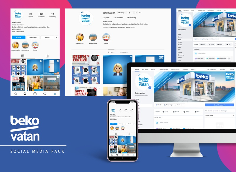 Social Media Pack social media desigsn hdsdesign facebook instagram social media pack social media kit social media design