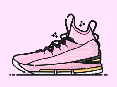 Hollywood LeBron 15 sneakers nike sneaker illustration sneaker art vector illustrator illustration graphicdesign flat design adobe