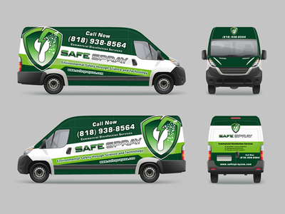 Vehicle Wrap - Cleaning Company truck art vehicle wrap design vehicle wrap van van wrap truck wrap sticker design graphic design car wrap car sticker