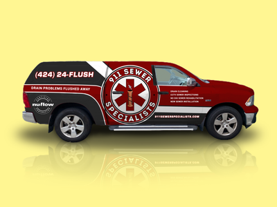 Vehicle Wrap - Cleaning Company truck art vehicle wrap design vehicle wrap sticker design car sticker van wrap van truck wrap graphic design car wrap