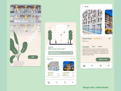 Booking App mobile app user interface design hotel app uiux booking