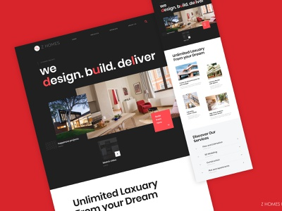 Landing Cover for ZHOMES ui