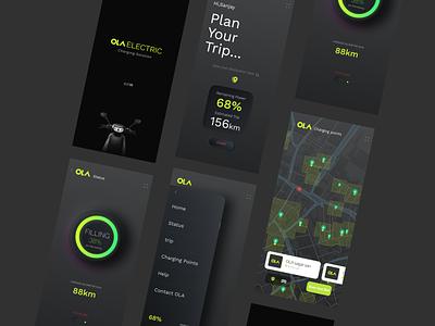 App Concept for OLA EV Charging Solution ui
