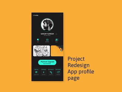 Profile Dashboard illustration logo typography branding vector icon app ux design ui