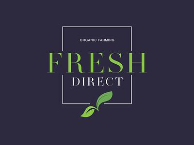 Fresh Direct   Logo Design illustrator photoshop art minimal typography ui branding design logo