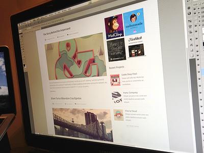 The Blog blog categories minimal flat web clean light ui ux ads projects posts user publish jaye creadivs