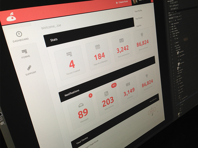 Dashboard dashboard web minimal clean light ui ux backend cs6 photoshop website design orange formic ant numbers stats support forms
