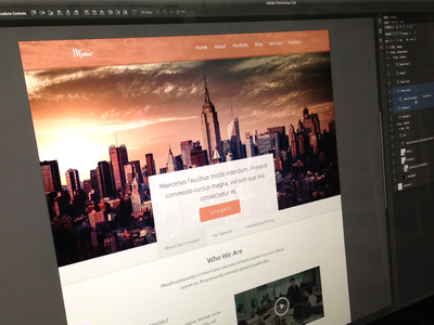 Mimic - One Page Awesomeness mimic clean responsive minimal web design website mockup pic screen shot orange awesome one page jaye creadivs