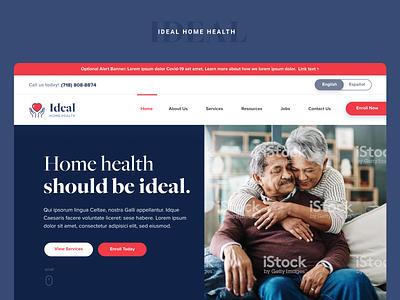 Ideal Home Health | Rebrand print logo branding ux ui nyc bronx modern clean minimal web design design ny cdpap healthcare home health health ideal