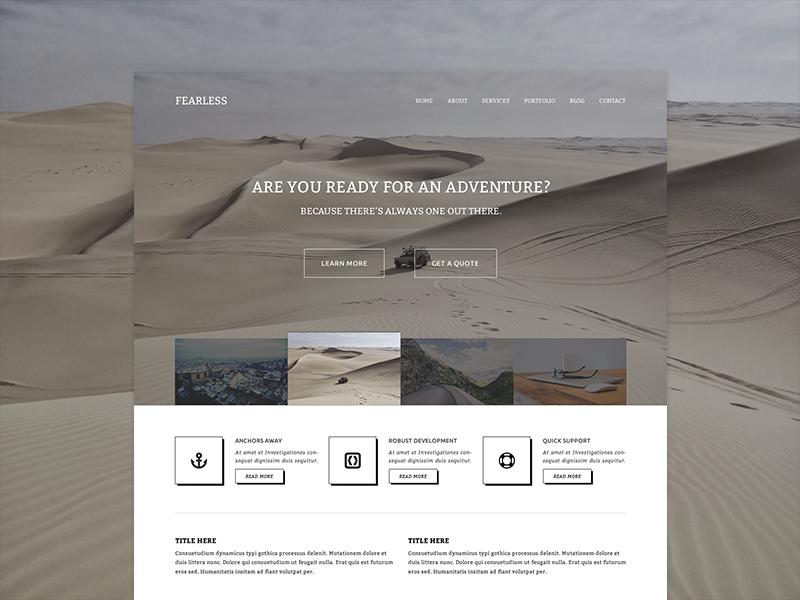 Fearless fearless wp wordpress theme design website web hello color tan retro