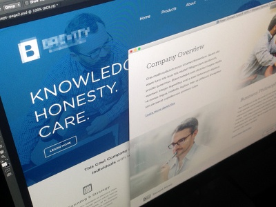Website Works web minimal clean website work blue new rff company theme development insurance
