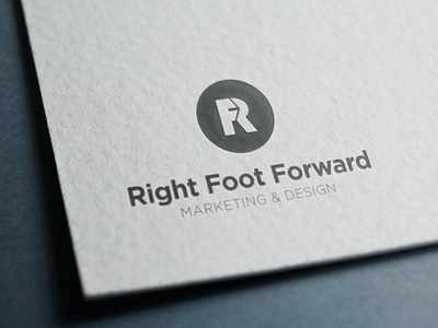 Right Foot Forward Rebrand rff shot process sketch brand identity mark logo rebrand