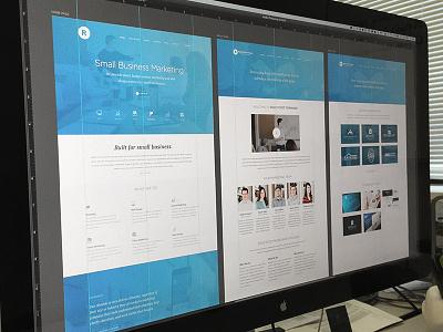 RFF and Art Boards art boards photoshop ui web light minimal modern clean design marketing rff