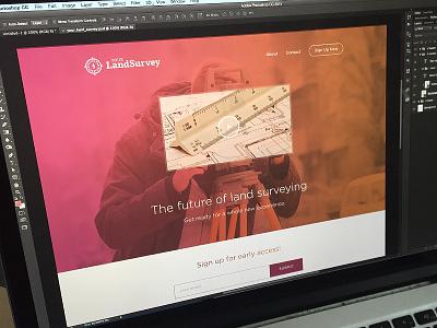 Your Land Survey - Landing Page gradient minimal clean ui website web page landing maps survey land