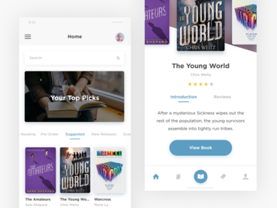 books, books, books, books jaye smorrs minimal modern clean ux ui design mobile ios app book
