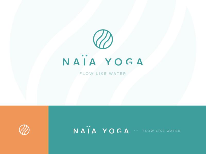 NAÏA YOGA youtube yoga class yoga logo meditation yoga classic modern clean minimal design logo