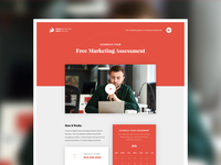 Free Marketing Assessment - Landing Page branding brand presmult website ui modern web clean minimal design