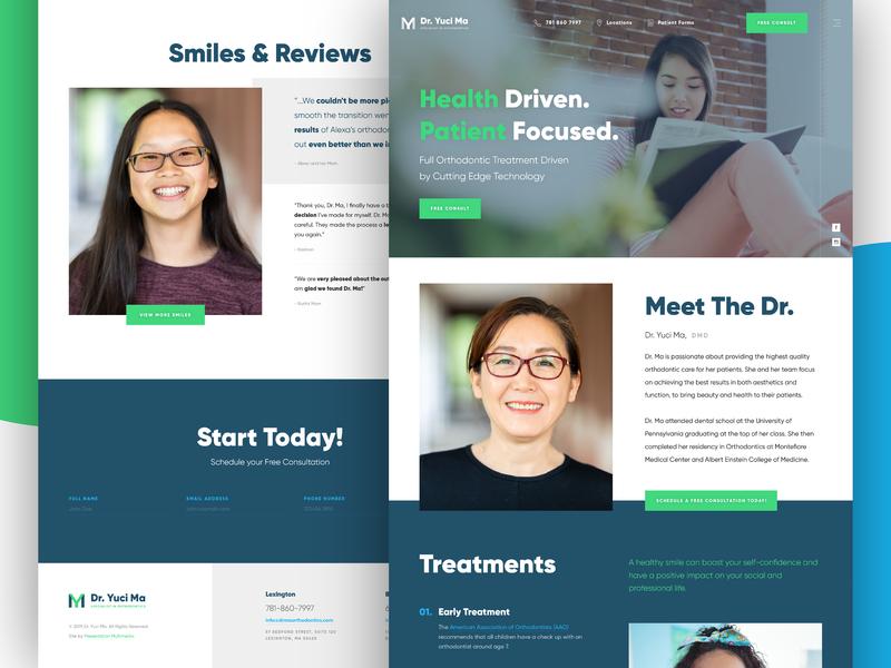 Dr. Yuci Ma | Ortho Website marketing ortho dentist orthodontist doctor dr refresh redesign rebrand bold big web design website clean modern