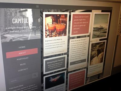 Capitol, capitol capitol minimal clean responsive web design posts blog random seperate red gray sizes creadivs shot pic screen