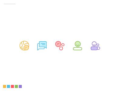 Social Media App Icons app icons icons design icons user interface mobile app ios app ui design