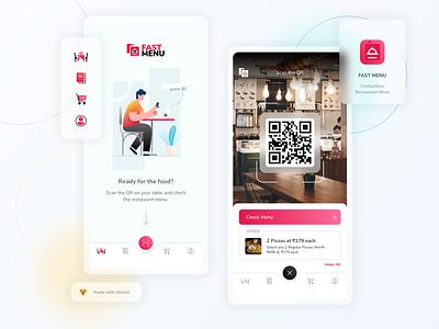 Fast Menu - Contactless Restaurant Menu application design iphone app ui branding graphic design android app user interface mobile app ios app ui design