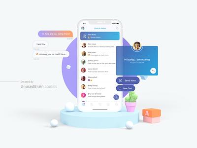 Ringy - Chat Application UI application design application ui ui iphone application android app graphic design user interface ios app mobile app ui design