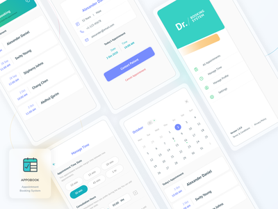 Appointment Booking App UI Design logo design iphone application android app user interface mobile app ios app ui design
