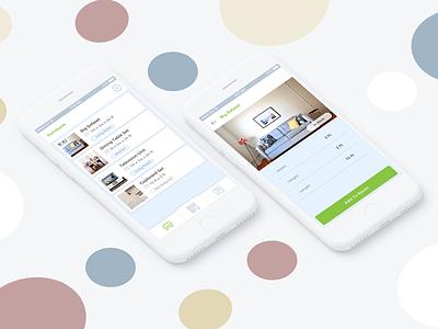 Room Planner App graphic design application user interface application design mobile app ui design android app ios app furniture app
