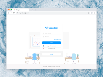 Tradesteer Web website design web admin graphic design ui design