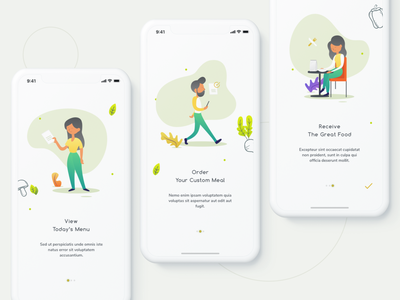 Onboarding - Food Delivery App ui design android app mobile app user interface ios app ui design