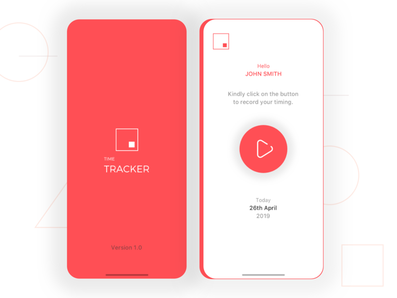 Time Tracker App mobile app android app design ui iphone application ios app ui design
