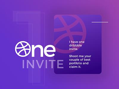 Invite Dribbble :) dribbble invite graphic design