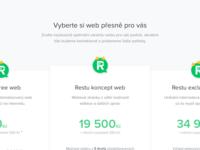 Pro.restu web pricing table