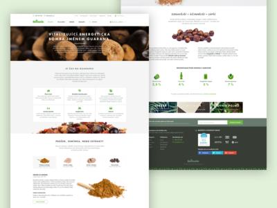 Botanic.cz | Web microsite onepage homepage intro website clean microsite page landing