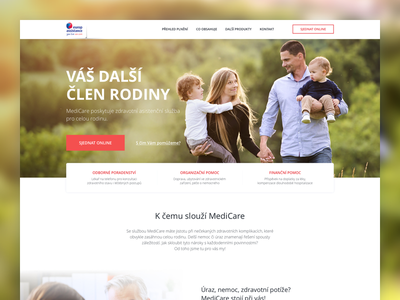 Medicare landing page onepage homepage clean product design visual webdesign page landing microsite