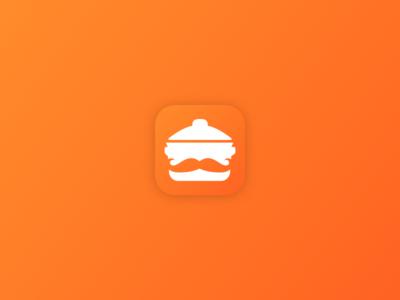 Cookbook icon WIP logo application mobile orange iphone recipes cookbook icon ios store app