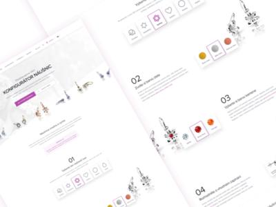 Cutie configurator site web responsive onepage shop page layout microsite website landing branding
