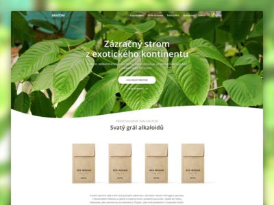 Kratom web green herbs store e-commerce shop medicine nature responsive clean homepage microsite landing