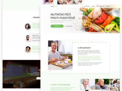Nutrition care Microsite website web nutrition lifestyle doctor food healthy eating page landing microsite